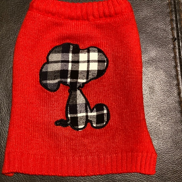 Dog Pet Sweater Snoopy Red Small Peanuts